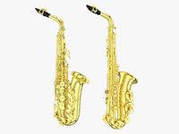 3D saxophone model