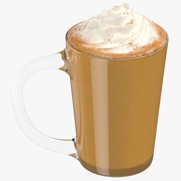 3D model pumpkin spice latte 01