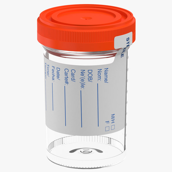 urine sample 3D model