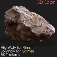 3D photogrammetry scan stone 08 model