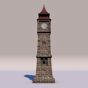 ben clock yemen 3D model