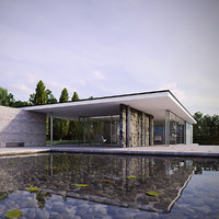 3D barcelona pavilion