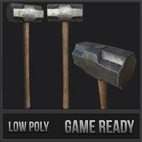 old sledgehammer pbr 3D model