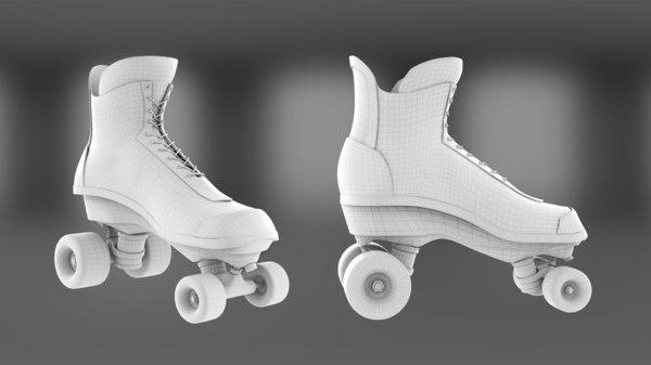 roller quad 3D model
