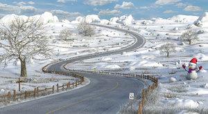 3D road cartoon toon