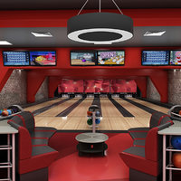 bowling arena 3D model