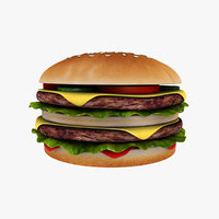 double cheeseburger print 3D