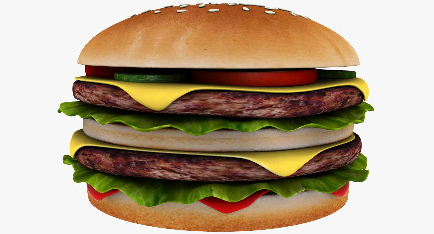 double cheeseburger print 3D