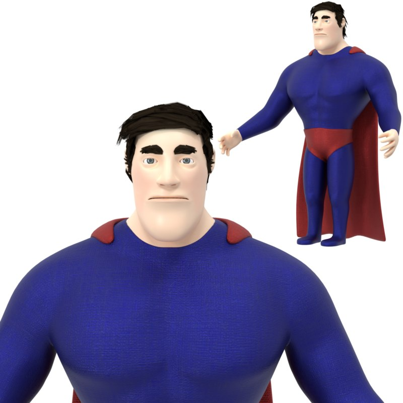 superhero character 3D model