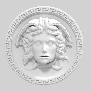 3D model medusa decor