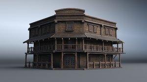 3D western house 08 village