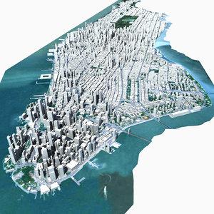 manhattan island model