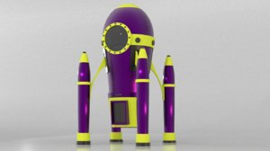 3D spaceship cartoon model