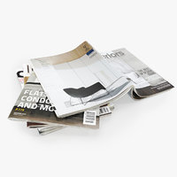 Photorealistic Magazines Open Set 2