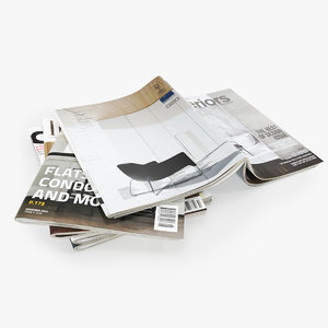 3D realistic photorealistic magazines open