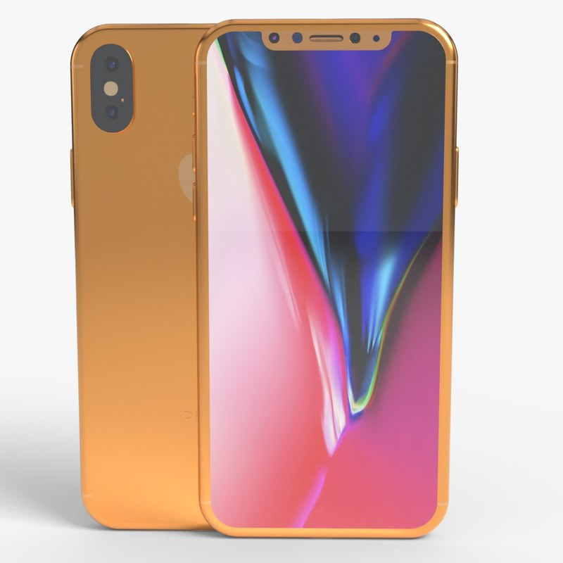3D iphone 11 gold model