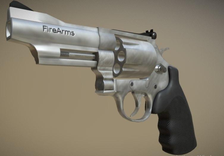 gun pistol weapon model
