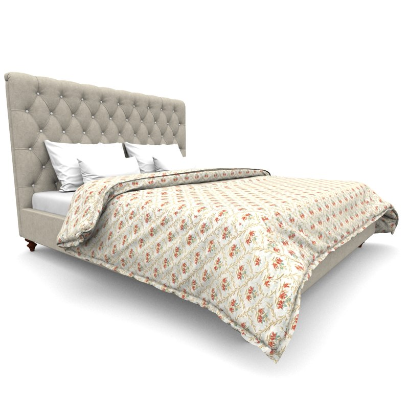 bed chesterfield 3D model