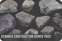 3D pack scanned construction debris