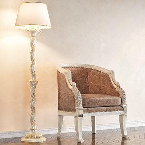 3D chair uttermost swaun art
