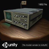 electronic oscilloscope 3D