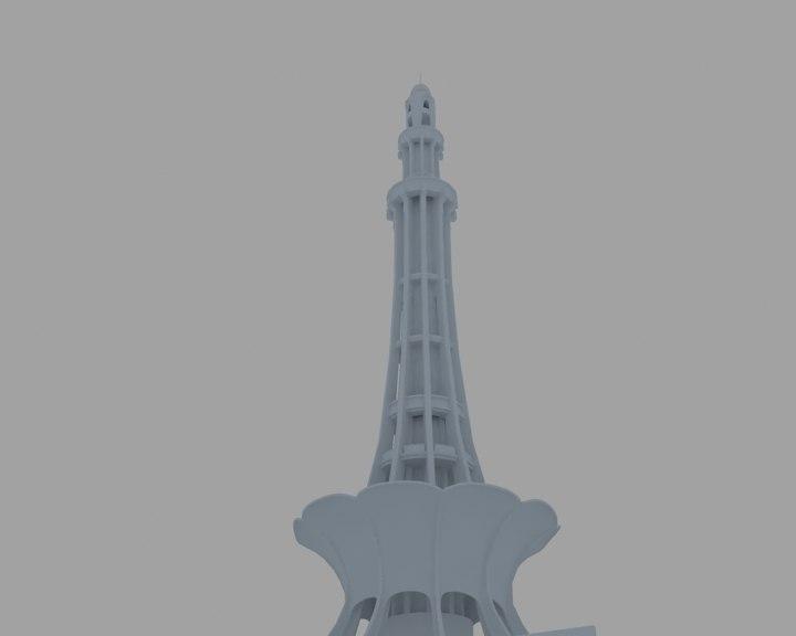 3D minar e pakistan