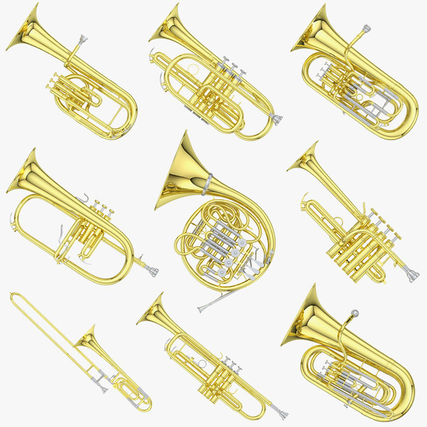 trumpet cornet flugelhorn 3D
