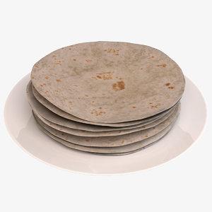 tortilla plate 3D