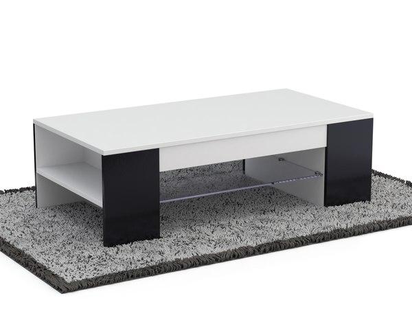 3D carpet wood table model