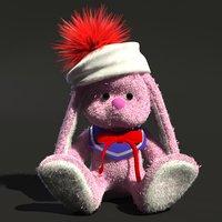 3D fluffy toy rabbit