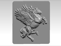 3D flying horse pegasus model