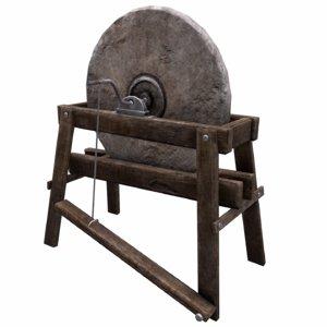 3D grindstone grind stone