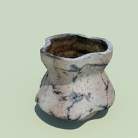 ceramic flover pot 3D model