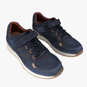 3D model retopology geox kids sports shoes
