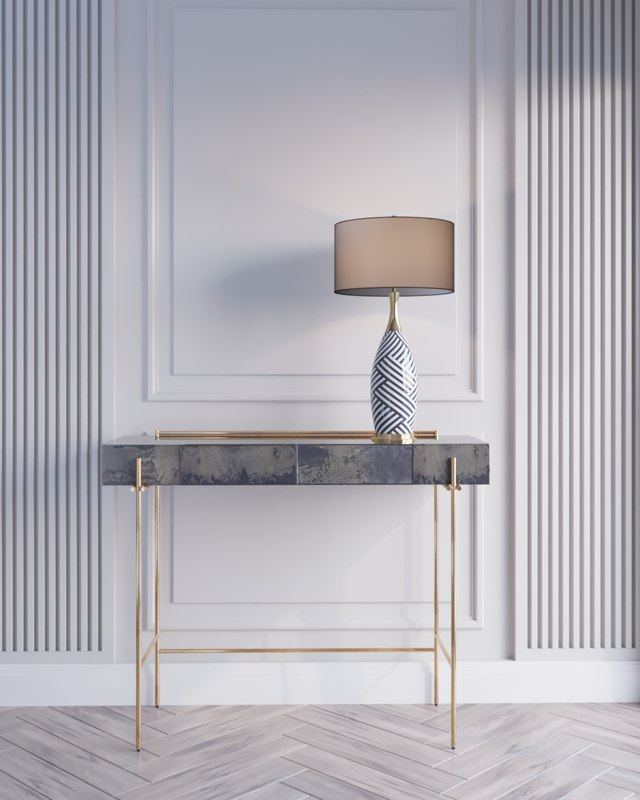 3D modern console table model