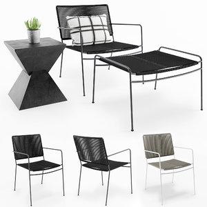 furniture vesper outdoor chair 3D