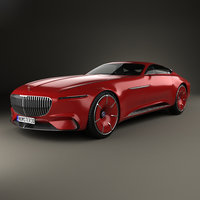 3D model mercedes-benz vision maybach