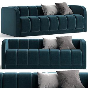 bardot sofa west elm 3D model