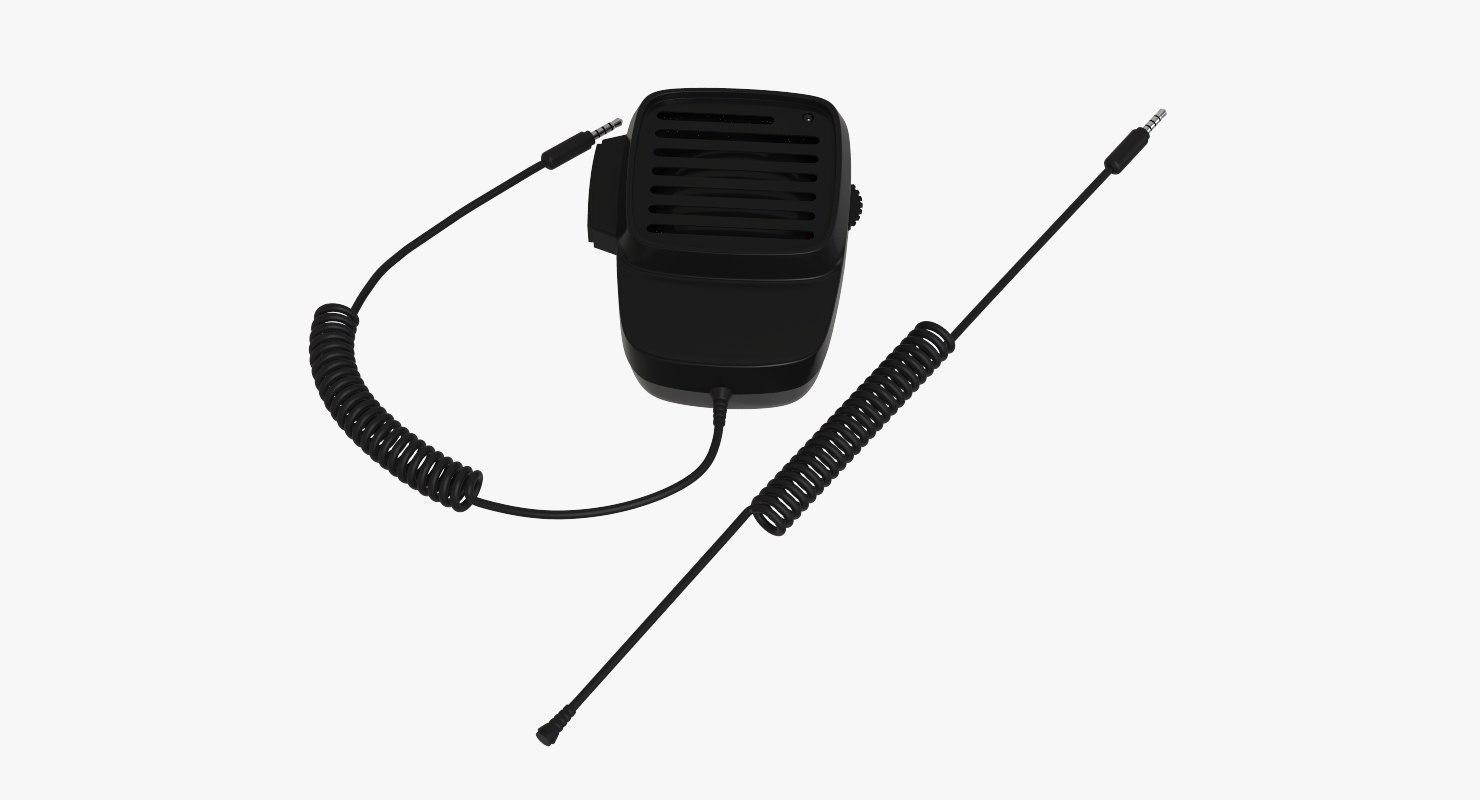 3D handheld-shoulder speaker microphone walkie model