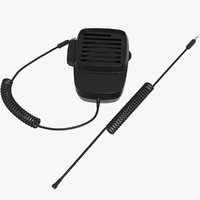 3D handheld-shoulder speaker microphone walkie model