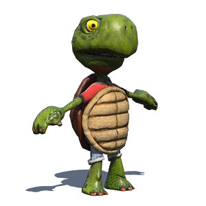 cartoon turtle riged model