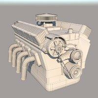 car engine 3D