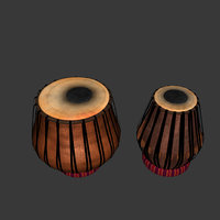 3D tabla indian instrument model