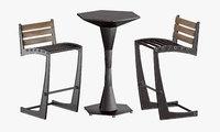 3D zen chair geo table