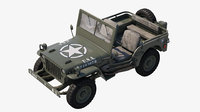 military jeep car willys 3D