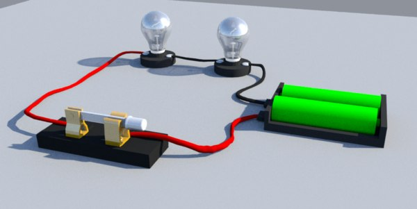 simple series circuit 3D model