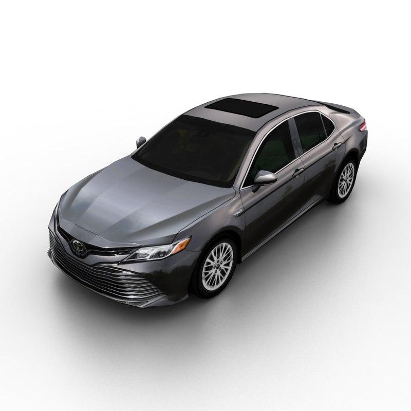 3D model 2018 toyota camry hybrid