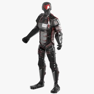 3D model robot alien character