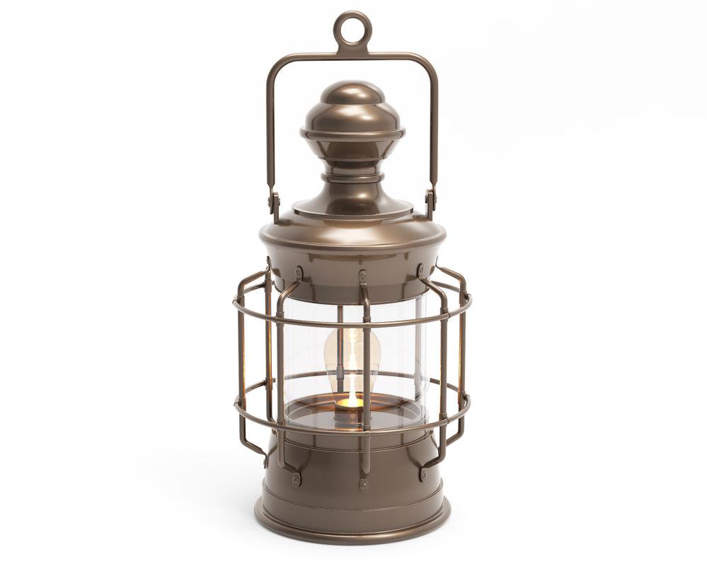 3D antique lantern