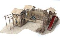 Wooden Playground Barrier 56